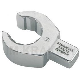 733/10 18 - Końcówka wtykowa oczkowa otwarta 9x12mm, 18mm