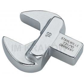733/10 22 - Końcówka wtykowa oczkowa otwarta 9x12mm, 22mm
