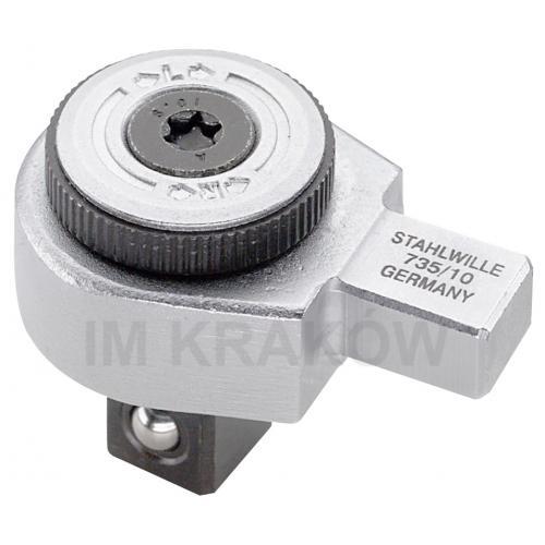 735/65 - Grzechotka wtykowa 3/4 do Kluczy dynamometrycznych do 650Nm z uchwytem 14x18mm