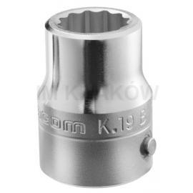"""Seria K.B - Nasadki 3/4"""", 12-kątne, metryczne 19 - 55 mm"""